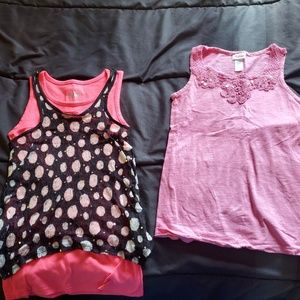 girls size 10 JUSTICE sleeveless tops x2 pink